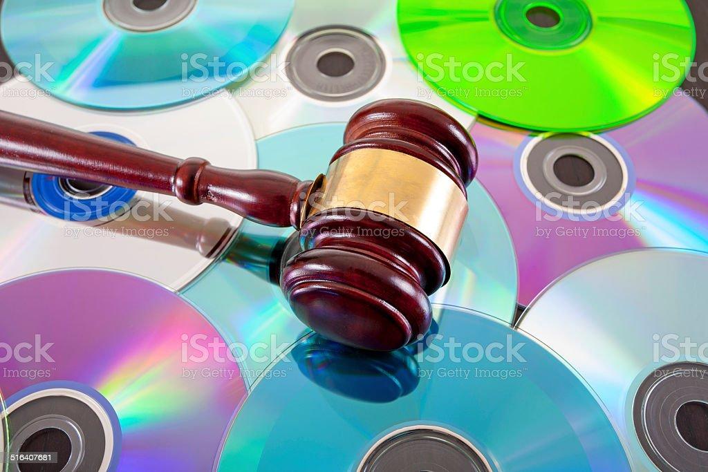 music copy right law concept stock photo