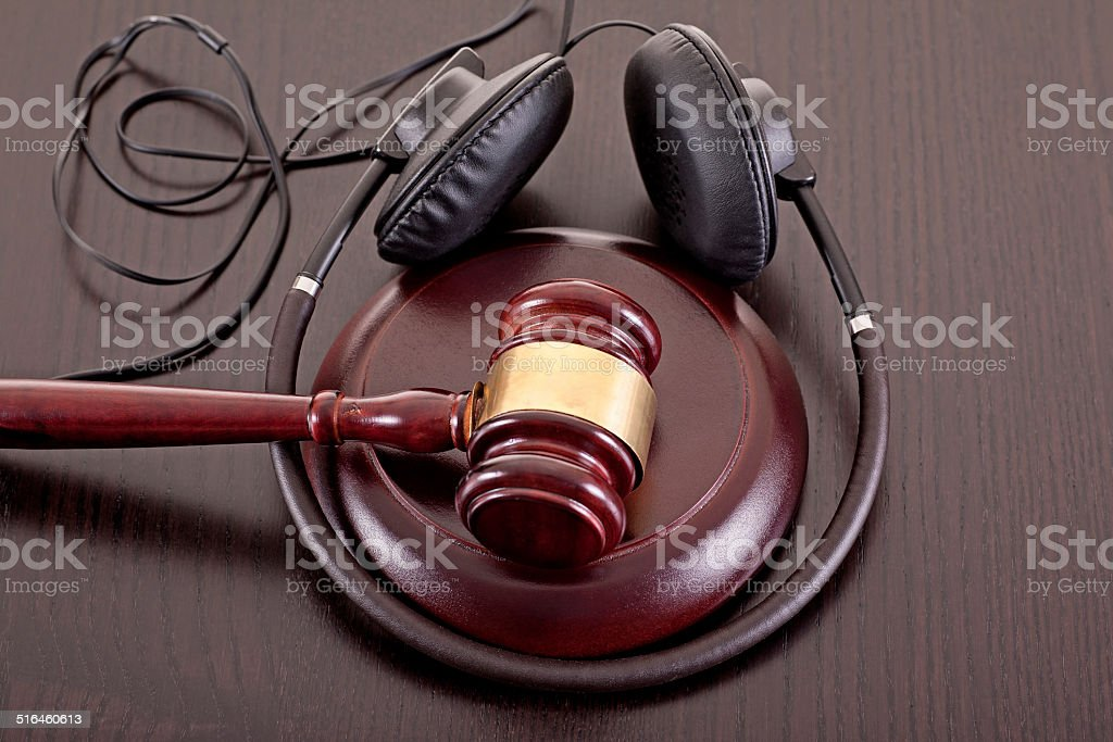 music copy right law stock photo