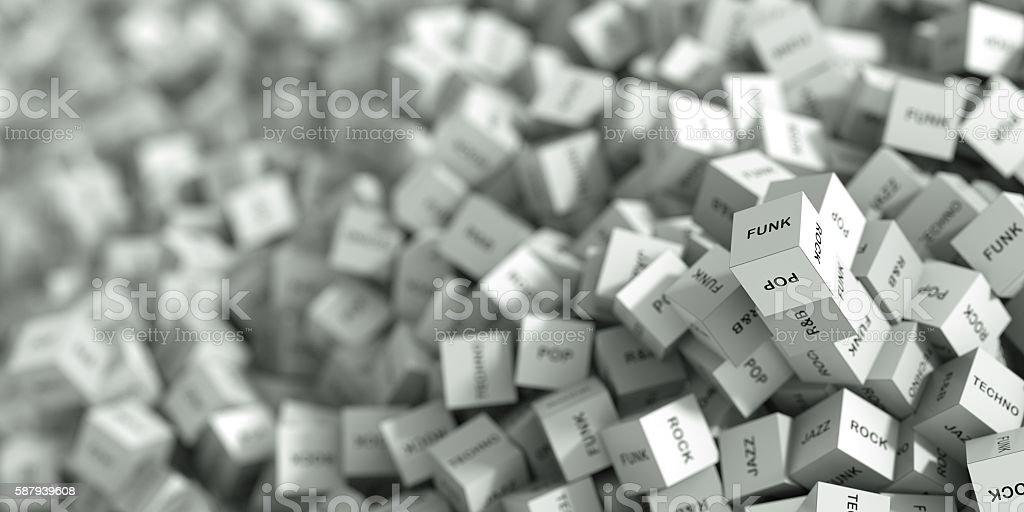 Music cubes stock photo