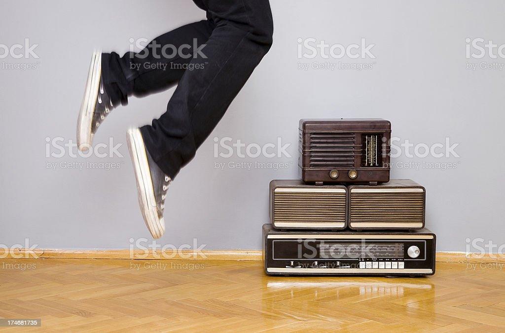 Music dancing royalty-free stock photo