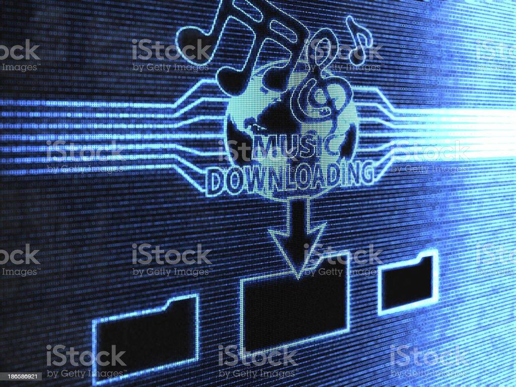 Music downloading royalty-free stock photo