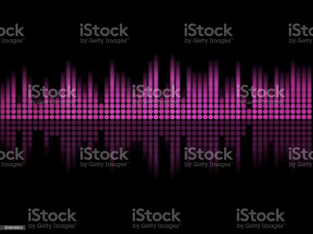 Music equalizer stock photo