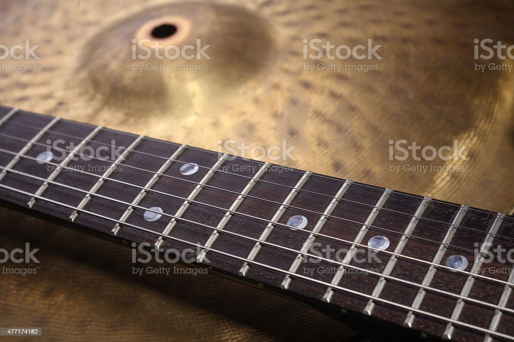 Music equipment closeup stock photo