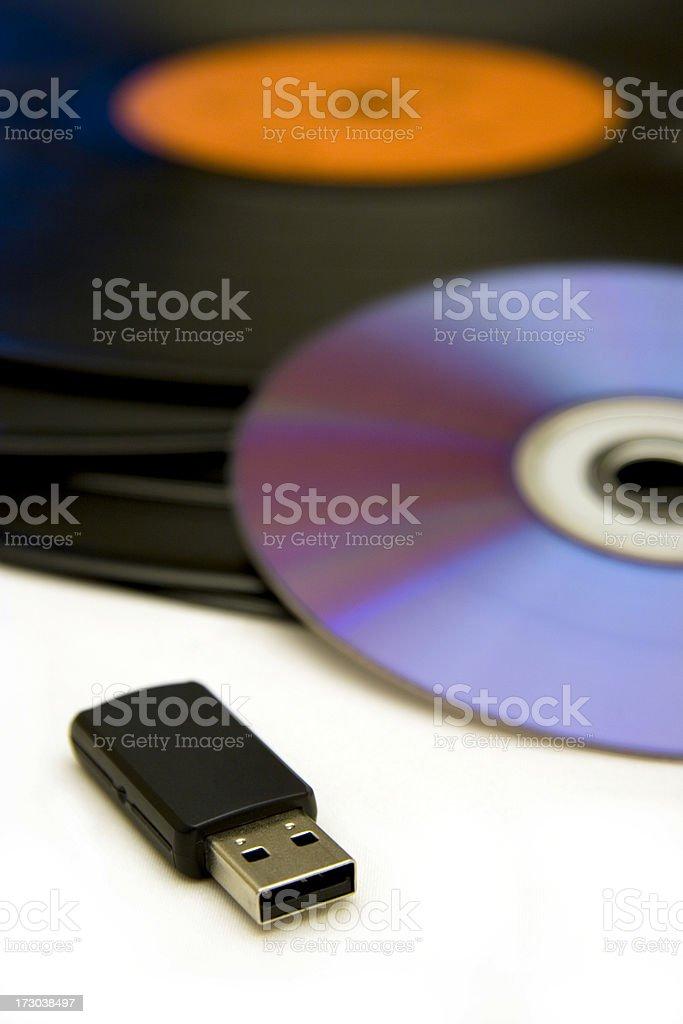 Music evolution royalty-free stock photo