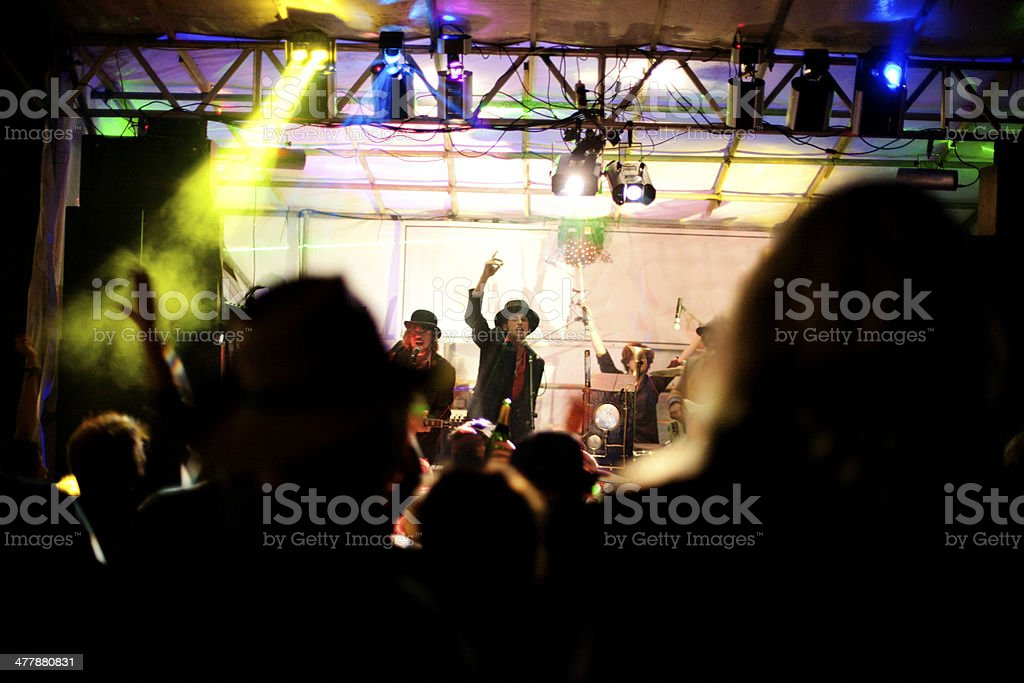 Music festival at night royalty-free stock photo