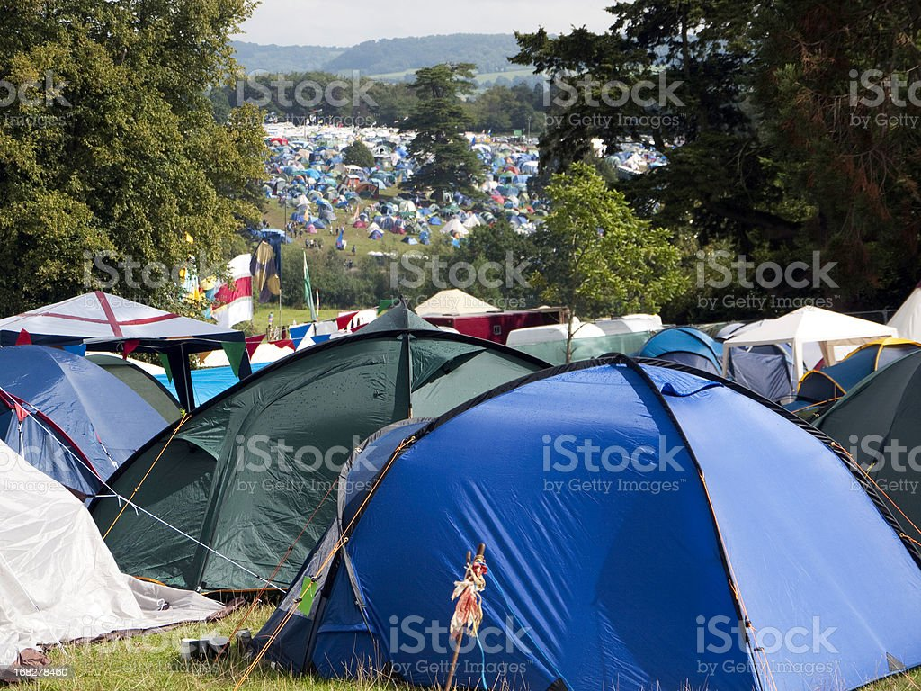 Music Festival Camping stock photo