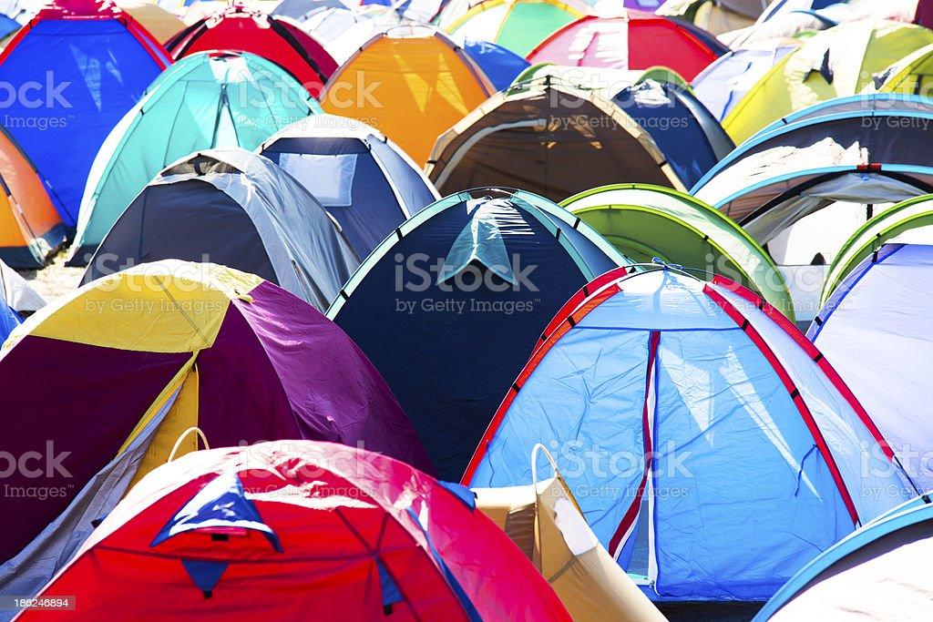 Music Festival Campsite stock photo