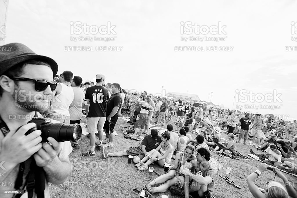 Music Festival Crowd royalty-free stock photo
