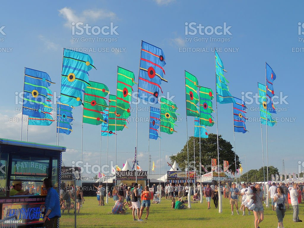 Music Festival Flags stock photo