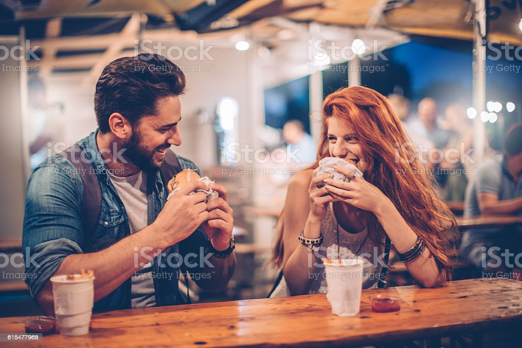 Music festival food is grate stock photo