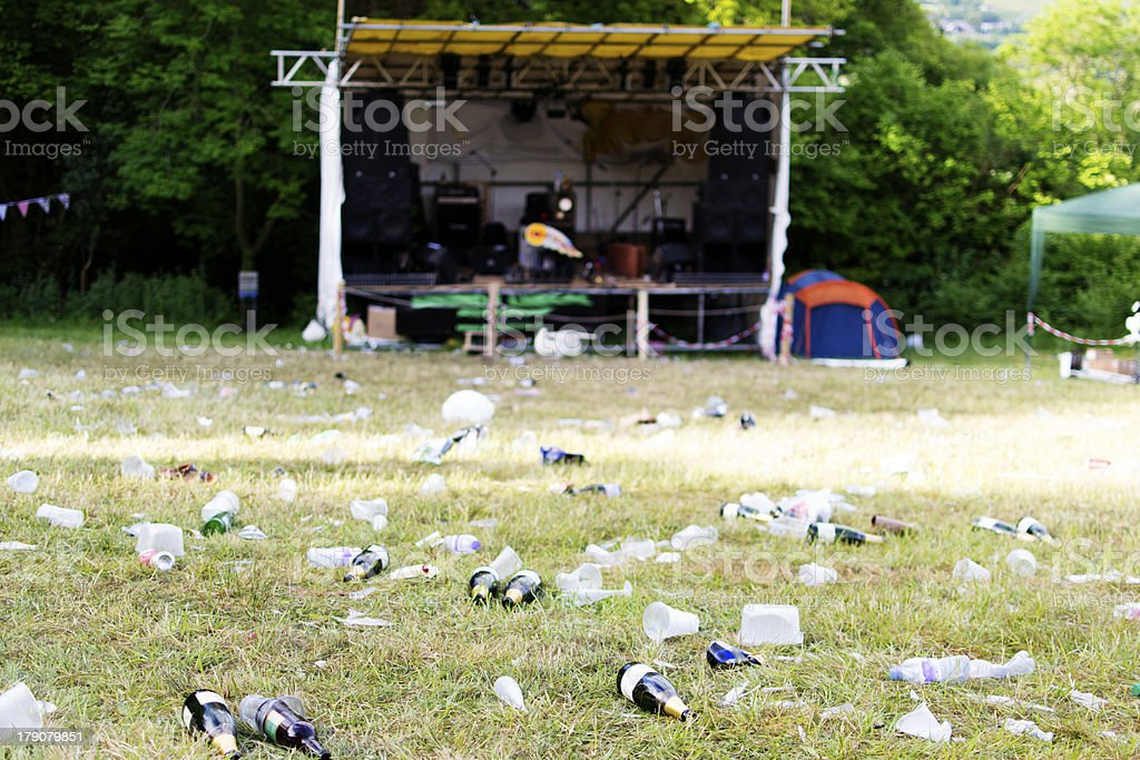 'Music Festival, the day after' stock photo