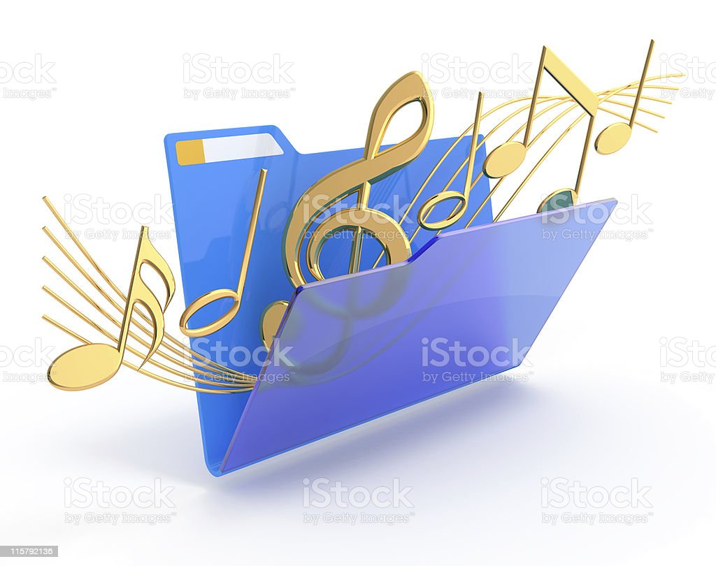 Music folder. royalty-free stock photo