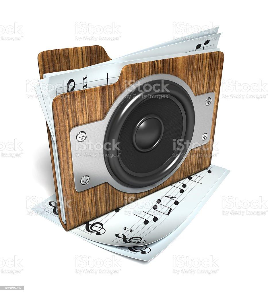Music folder royalty-free stock photo