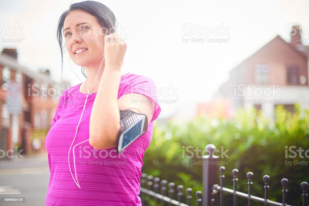 music for the running stock photo