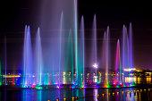 Music fountain at night