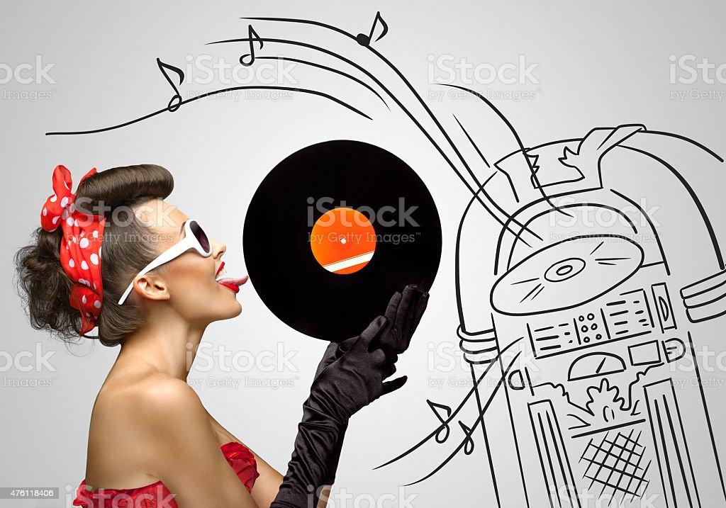 Music from jukebox. stock photo