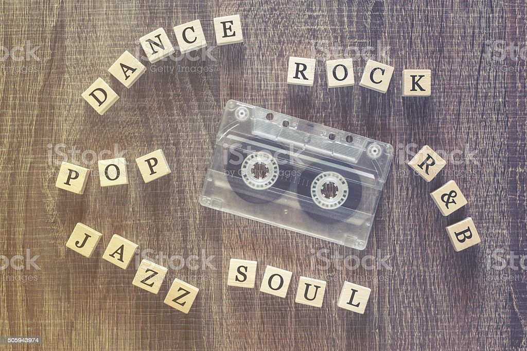 Music genres concept stock photo