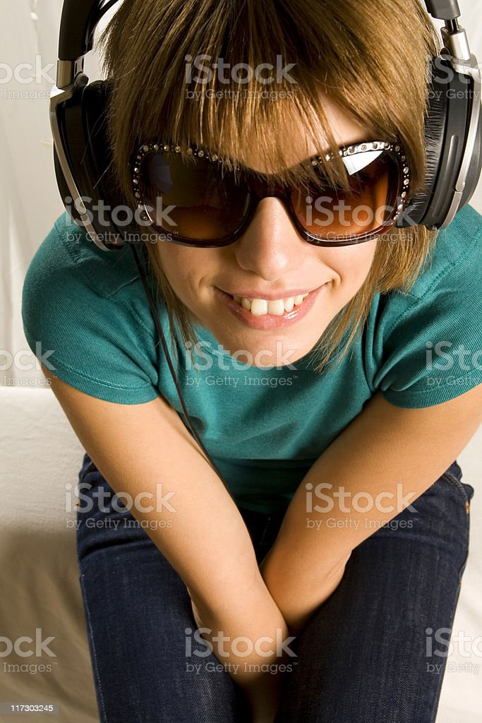 Music girl series stock photo