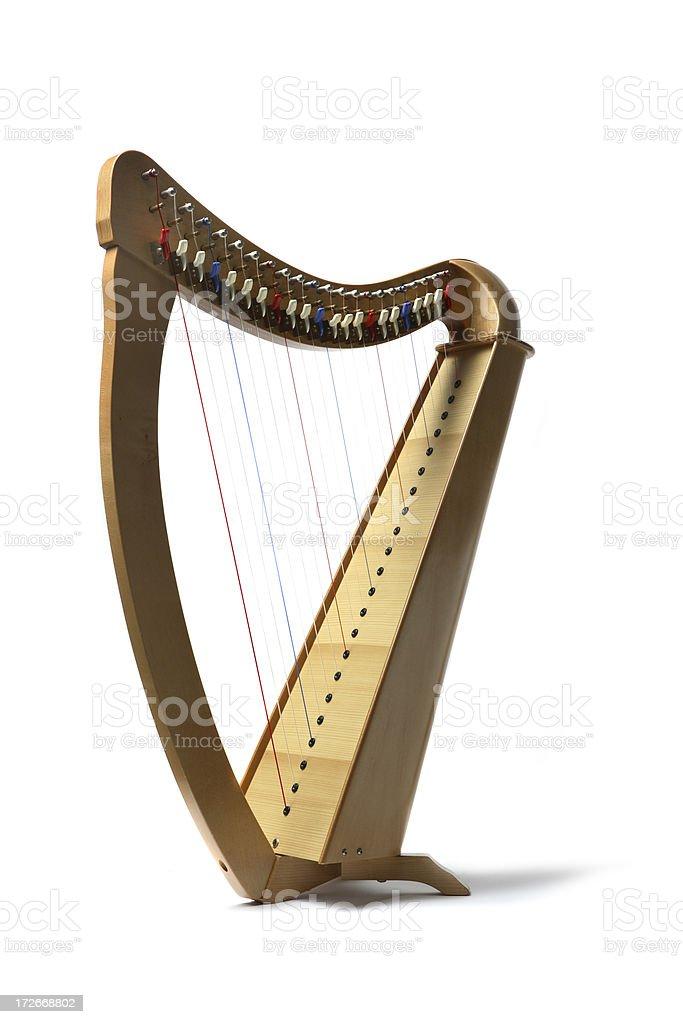 Music: Harp stock photo