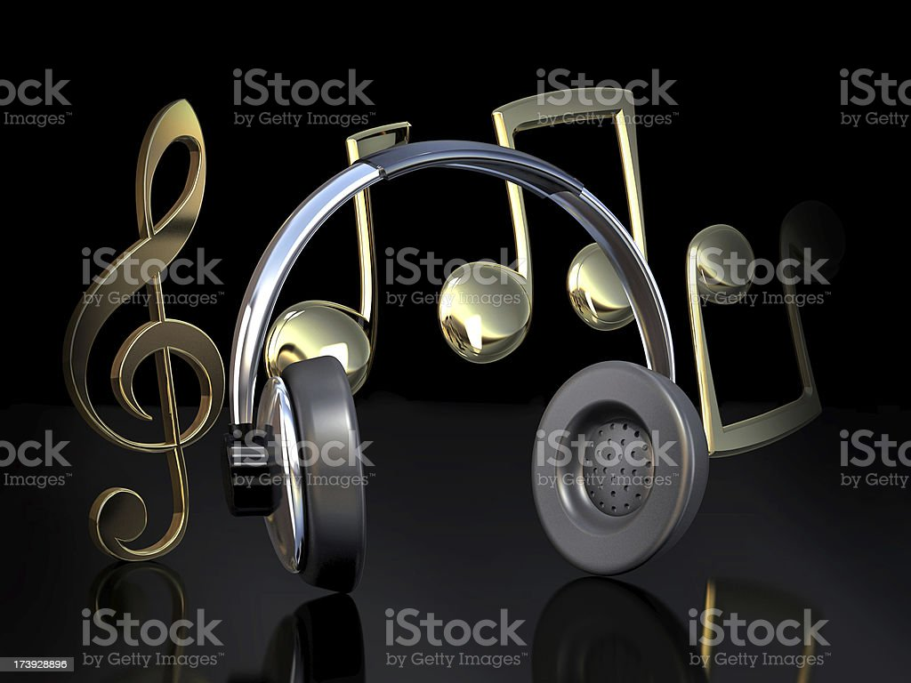 Music icons royalty-free stock photo