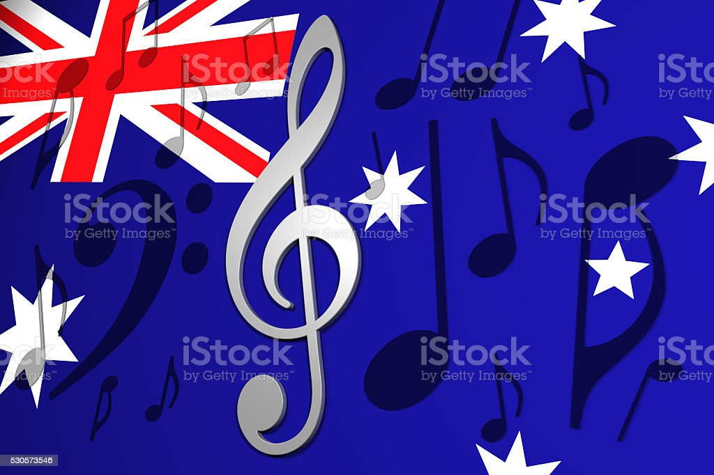 Music in Australia stock photo