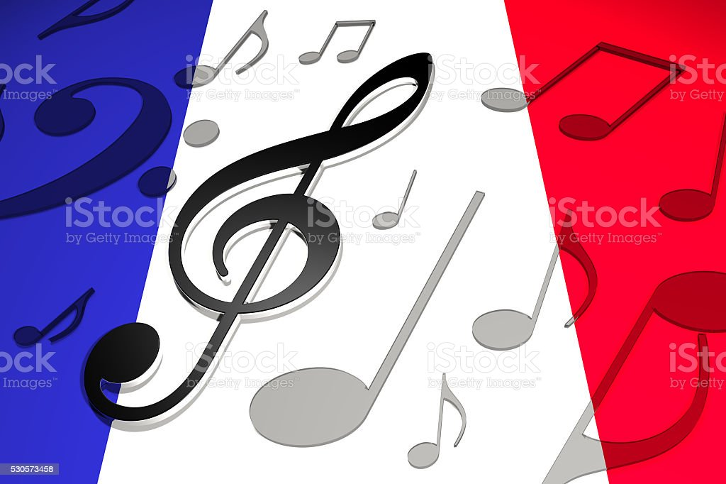 Music in France stock photo