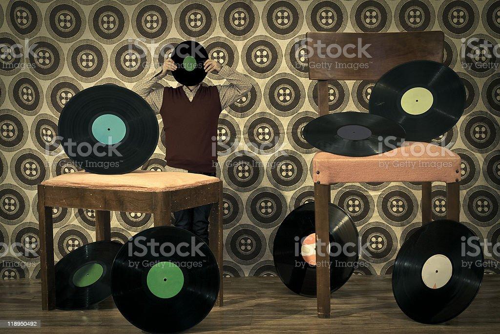 music in head stock photo