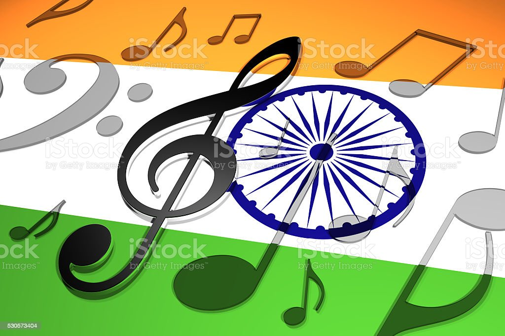 Music in India stock photo