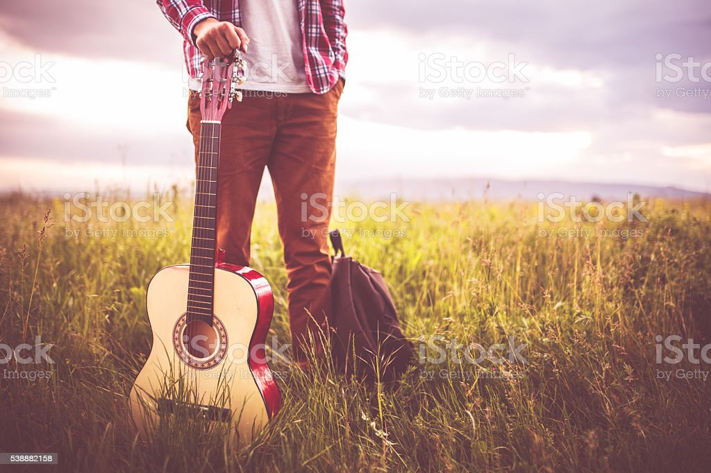 Music in nature stock photo