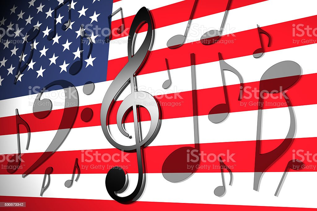 Music in th USA stock photo