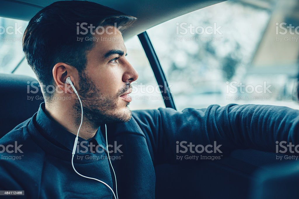 Music in the car stock photo
