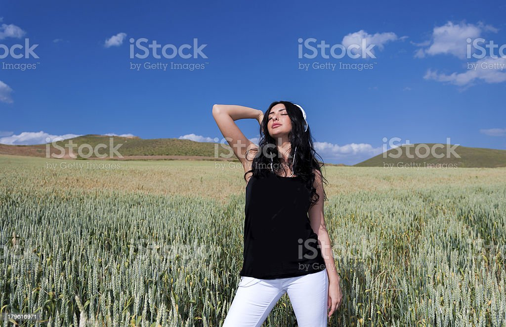 Music in the field royalty-free stock photo