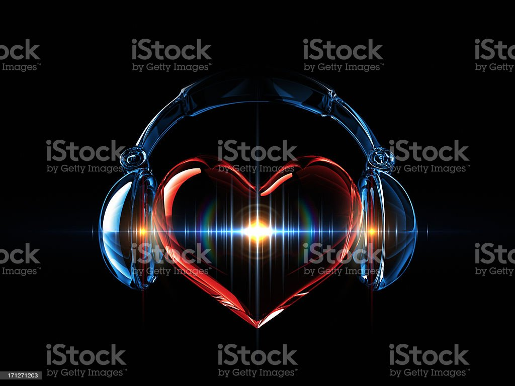 Music In The Heart stock photo