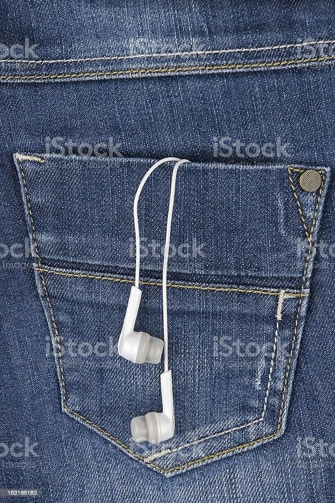 Music in your pocket royalty-free stock photo