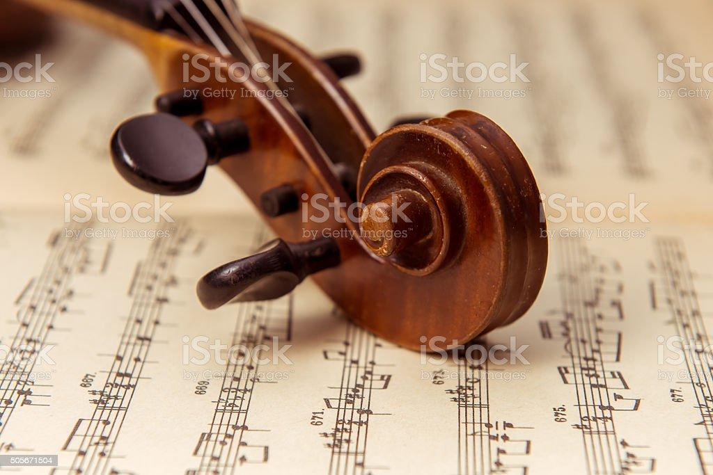Music instrument violin stock photo