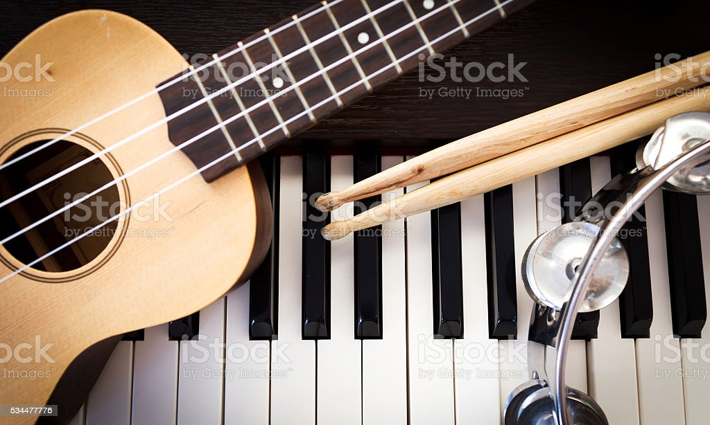 Music instruments. stock photo