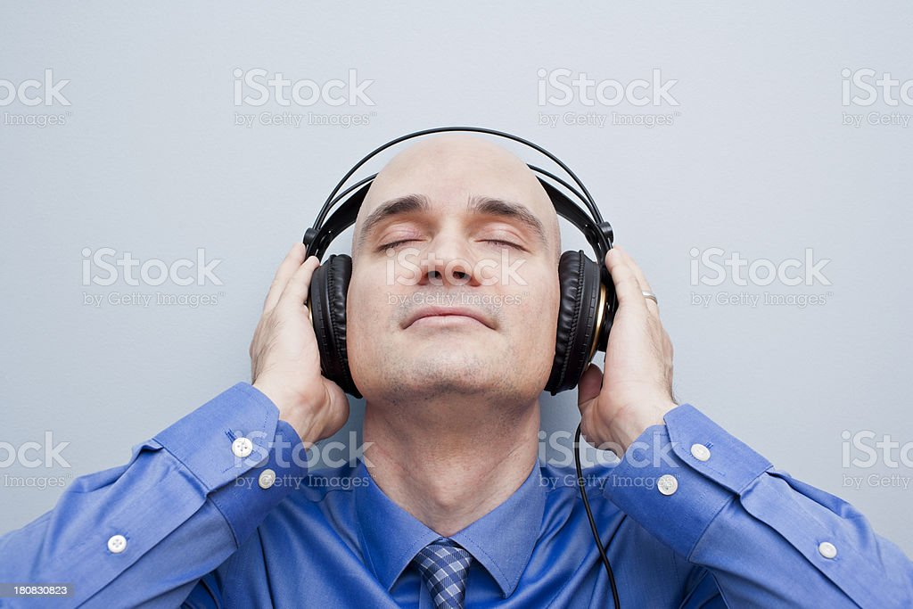 music is a relaxing blissful experience royalty-free stock photo
