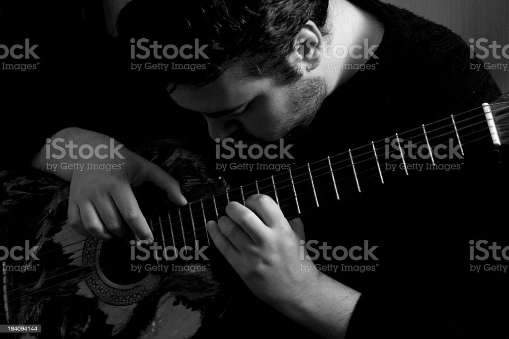 Music is my passion (bw) royalty-free stock photo