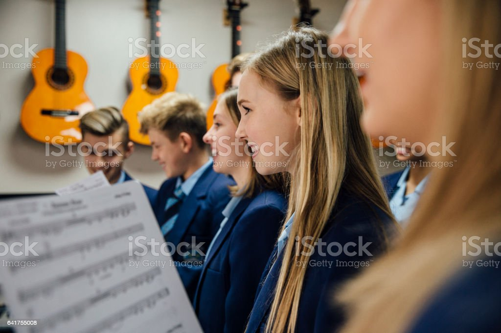 Music Lesson At School stock photo