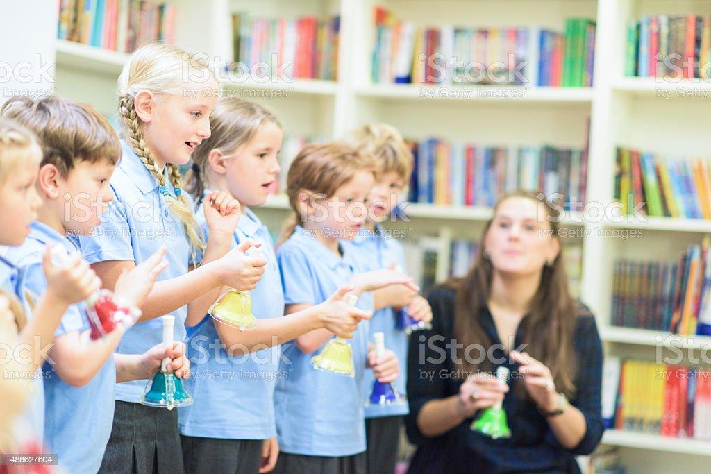 Music lesson school uk stock photo