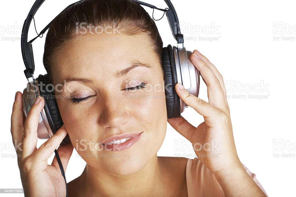 Music makes her dream royalty-free stock photo