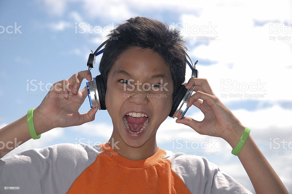 Music Maniac stock photo