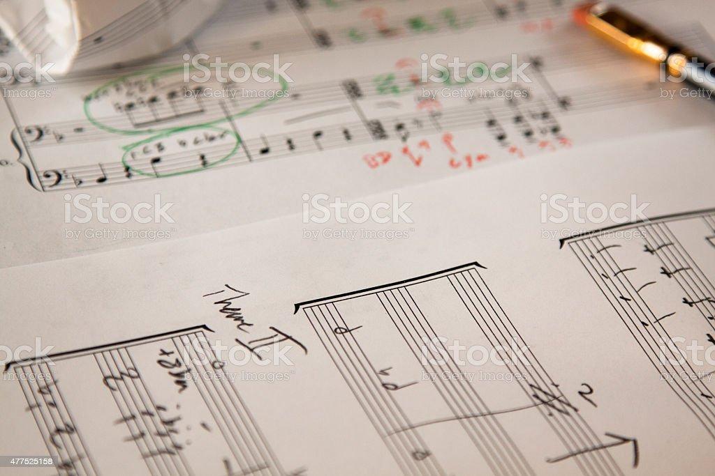 Music Manuscript stock photo