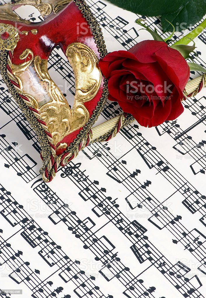 Music Mask 2 royalty-free stock photo