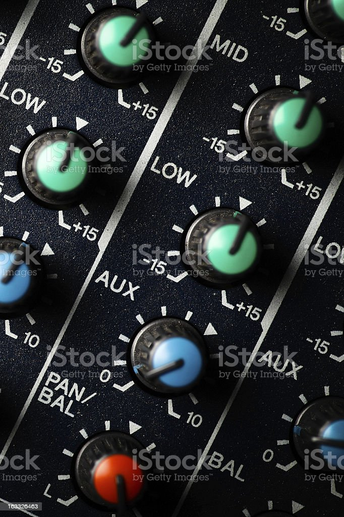 Music mixer desk royalty-free stock photo