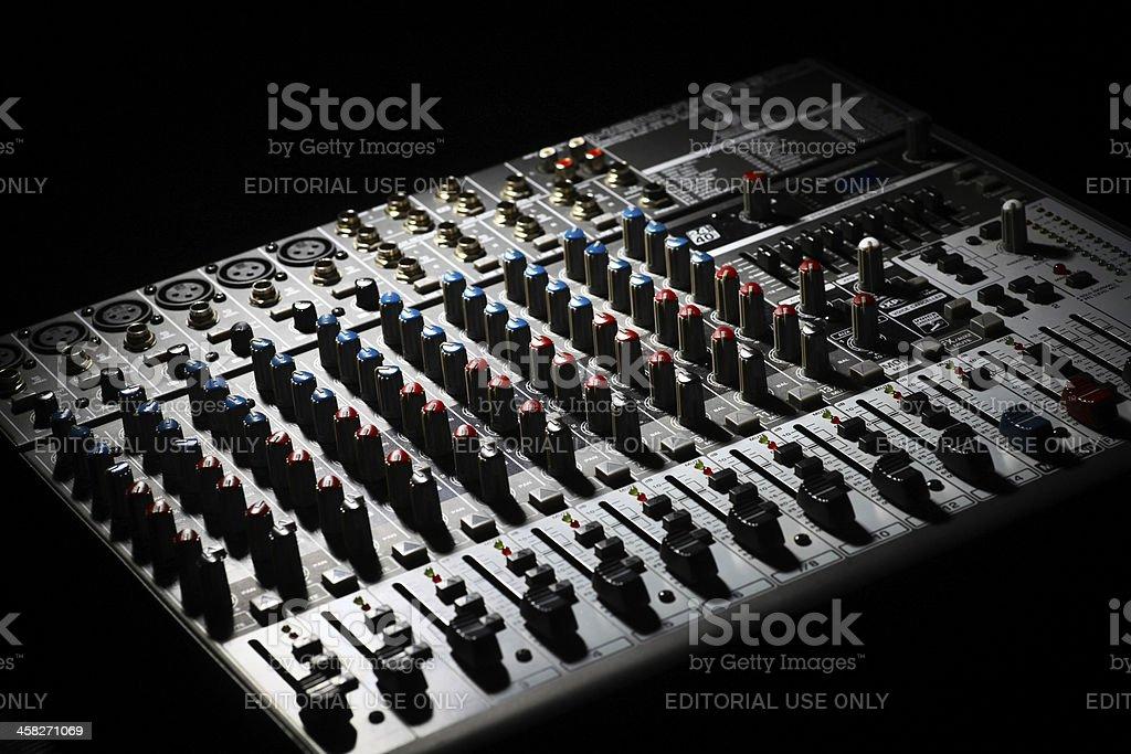 Music mixer desk royalty-free stock photo