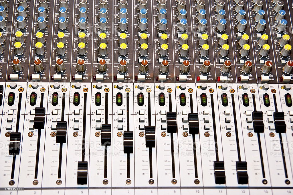 music mixer royalty-free stock photo