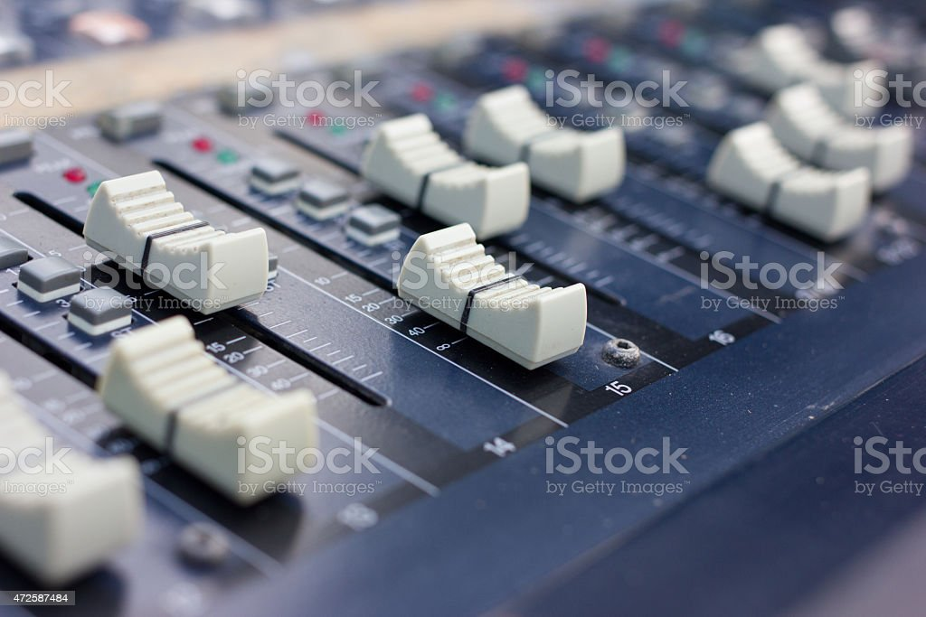 Music mixer (selective focus) stock photo