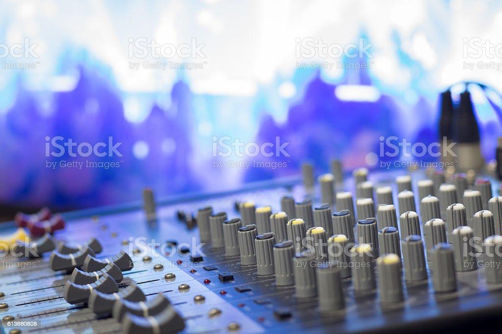 Music mixer stock photo