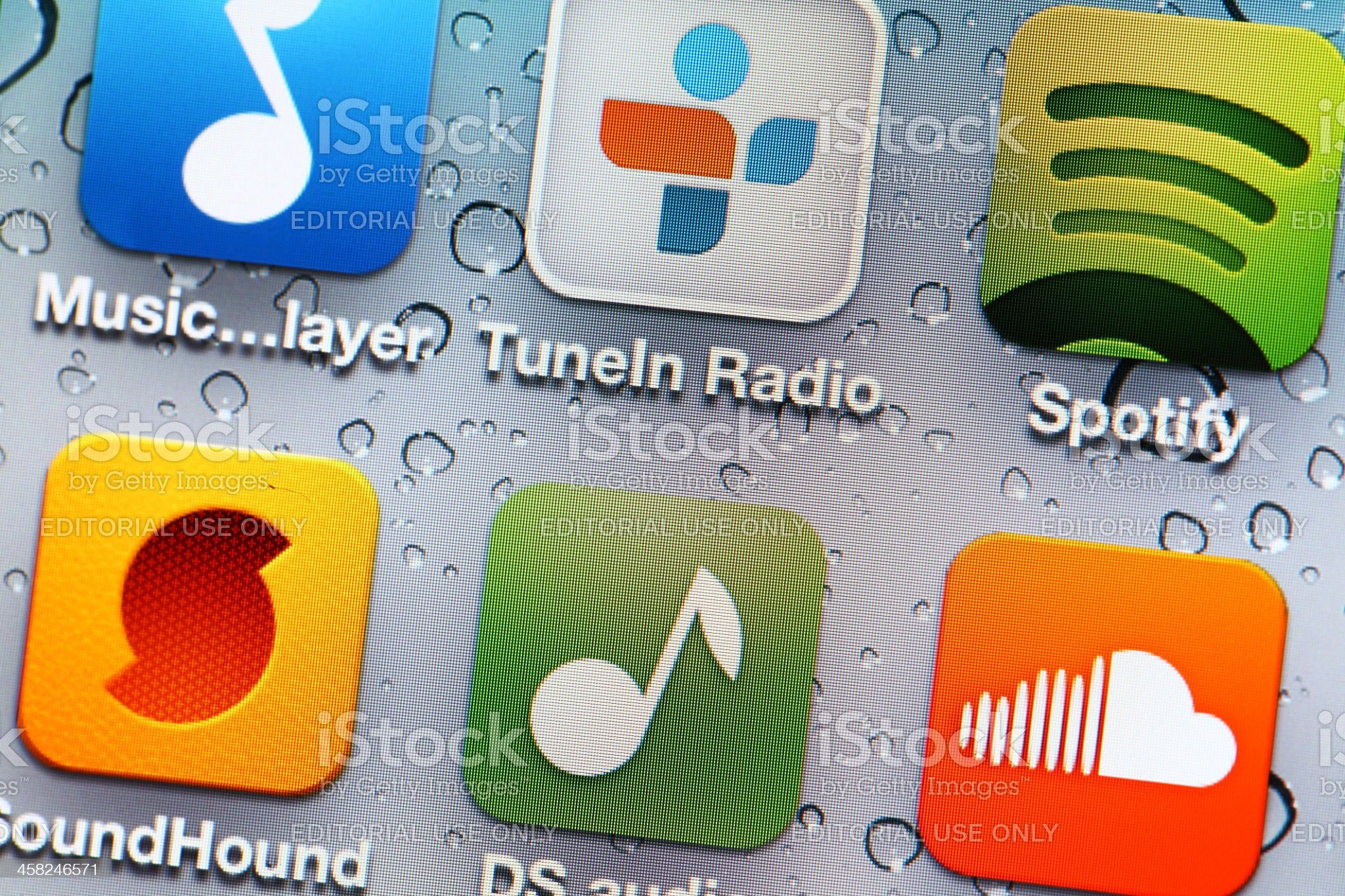 Music mobile application royalty-free stock photo
